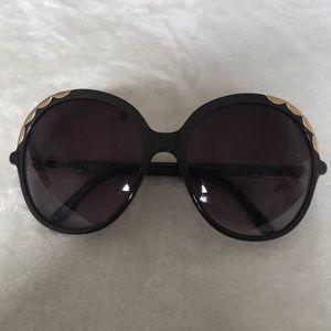 Chloe Erine oversized scalloped sunglasses